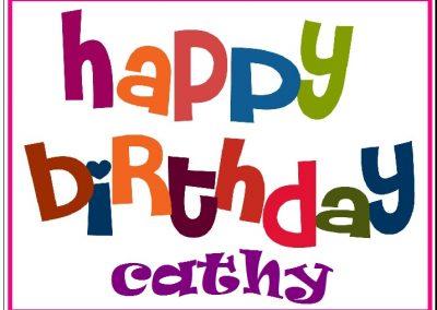 happy birthday label example