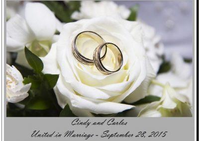 wedding label example